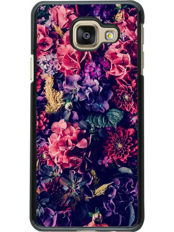 Coque Samsung Galaxy A3 (2016) - Flowers Dark